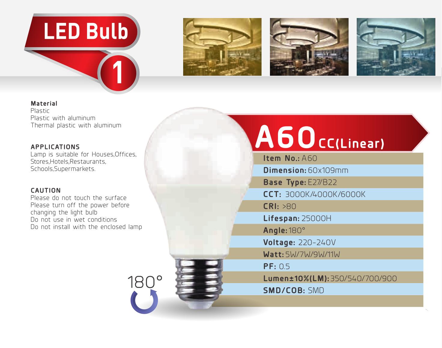 Led Bulb A60cc 5w 11w Led Bulb Bulb Led