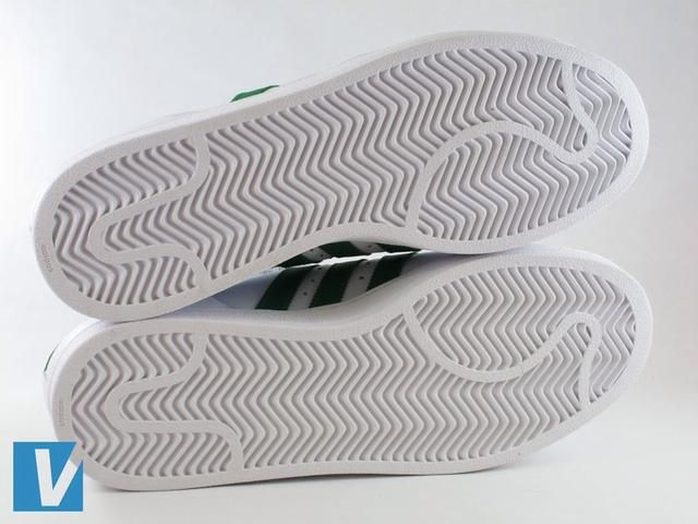 The outsole of Adidas Superstar shoes have a distinct