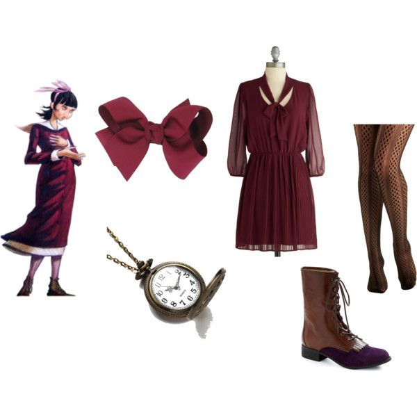 Violet Baudelaire inspired outfit. Loved this character and the boots.