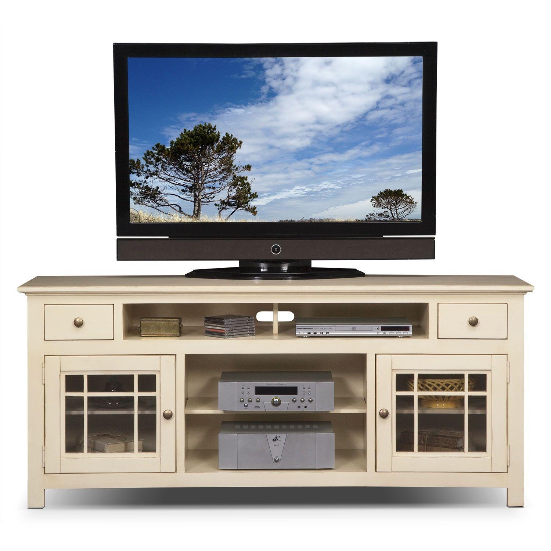 Cheap legends furniture cambridge fireplace media center in cherry - Merrick White 74 Tv Stand Value City Furniture Fireplace