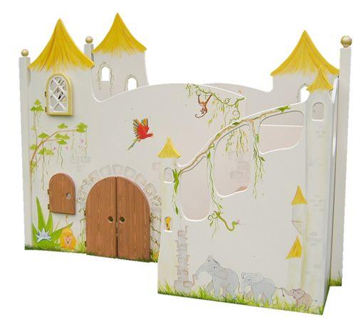 Kinderbett dschungel  Abenteuerbett Dschungel, Kinderbett mit vielen Tieren im ...