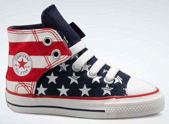 Converse All Star Red White Blue Easy Slip hi-top sneaker for kids - DT ac326f7df