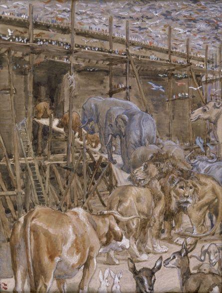The Animals Enter the Ark - James Tissot c.1896-c.1902 - Style: Symbolism