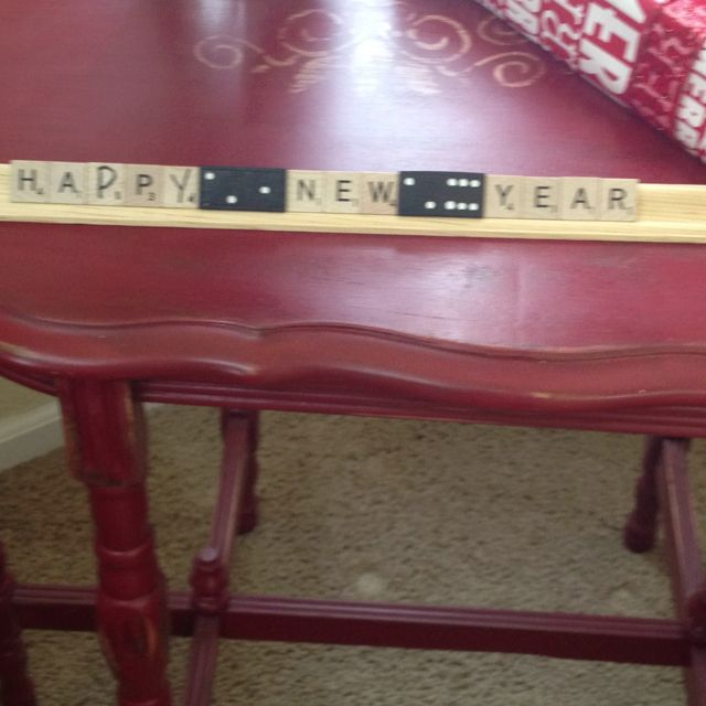 Decorating with scrabble letters