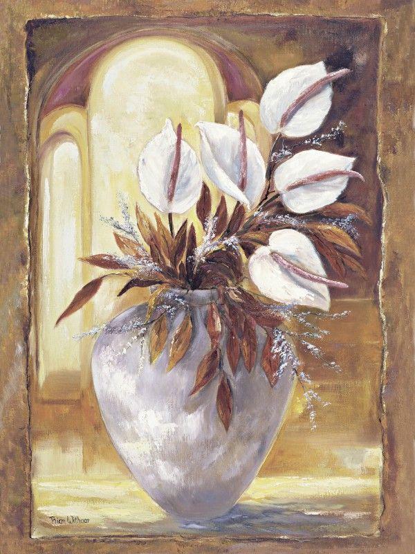 poster leinwand bild artland 309 00442 2 rian withaar wei e blumen in vase i kaufen bei