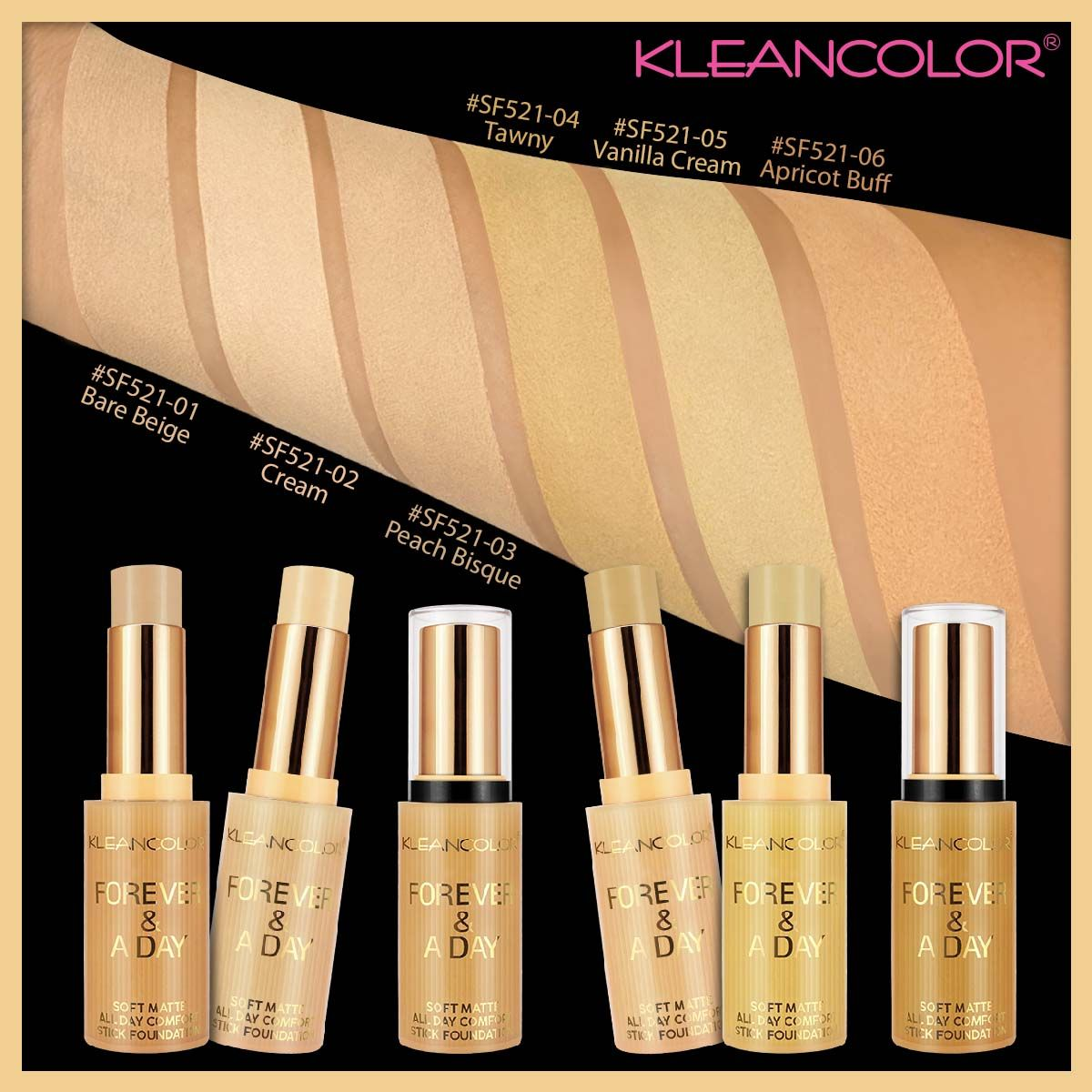 Forever & a day soft matte stick foundation (With images