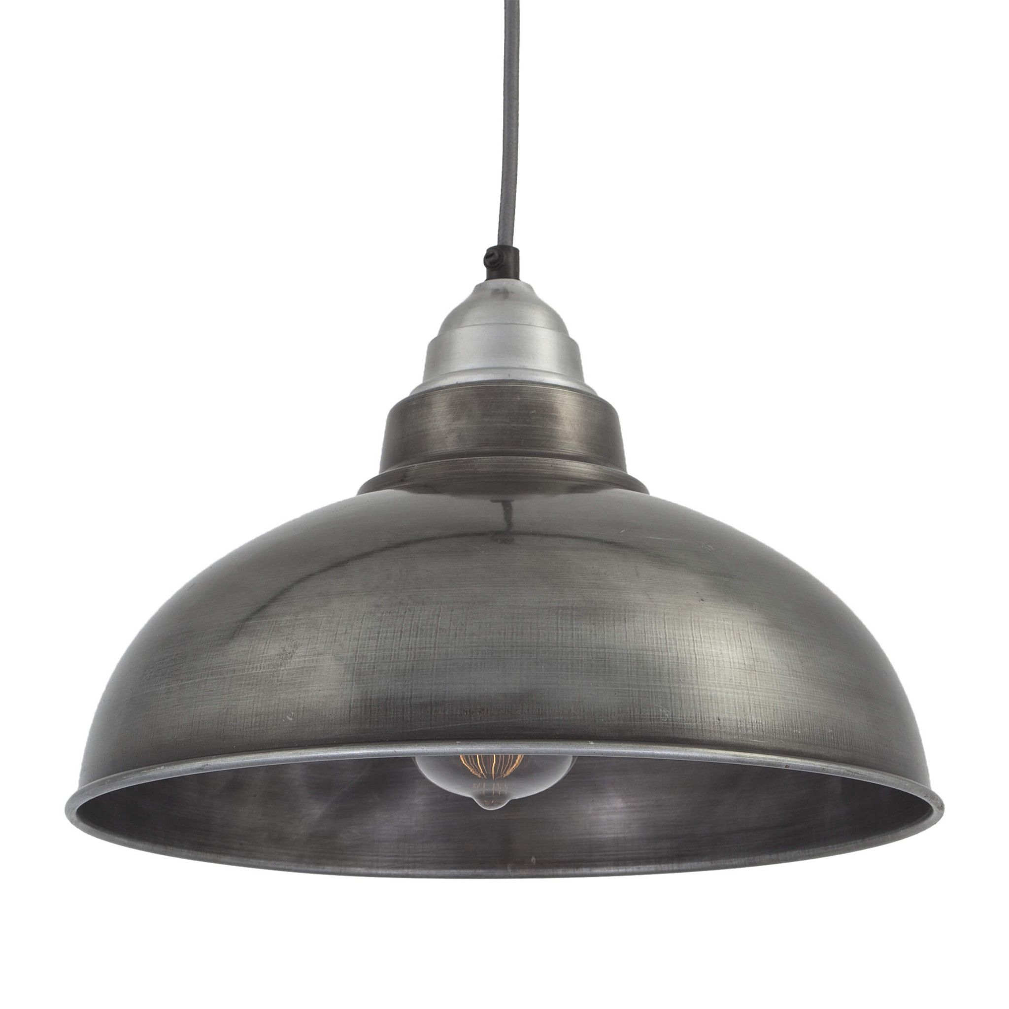 Old Industrial Pendant Light: Old Factory Pendant - 12 Inch - Pewter In 2019