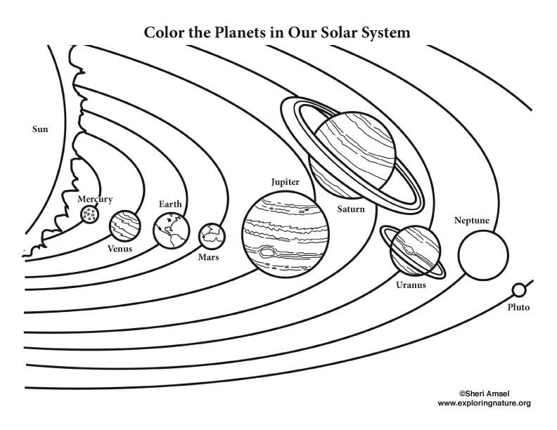 Color The Solar System colouring pages Solar system