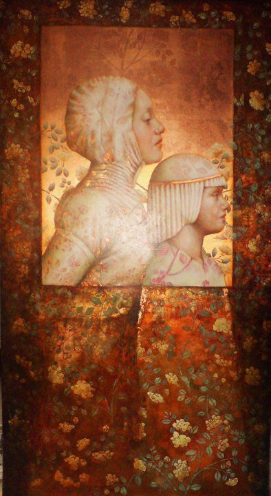 'Mille Fleurs'...Artwork of Pam Hawkes. -Penny-