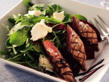 Grillad lamminnerfilé med rödbetor och balsamvinägersirap