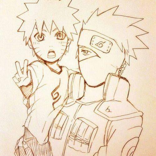 Naruto Kakashi Con Imagenes Naruto Dibujos