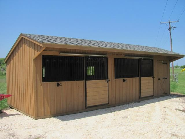 12x30 Shed Row Horse Barn With Open Stall Fronts And Sliding Stall Doors Perfect For Hotter Southern Or Western Loc Horse Barns Small Horse Barns Barn Stalls