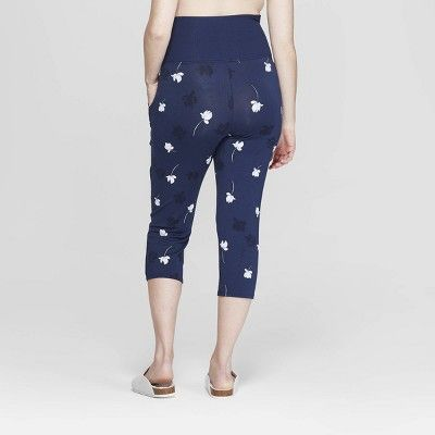 Women s Floral Print Beautifully Soft Crop Postpartum Pajama Pants - Stars  Above Navy (Blue) 9dc7479ec