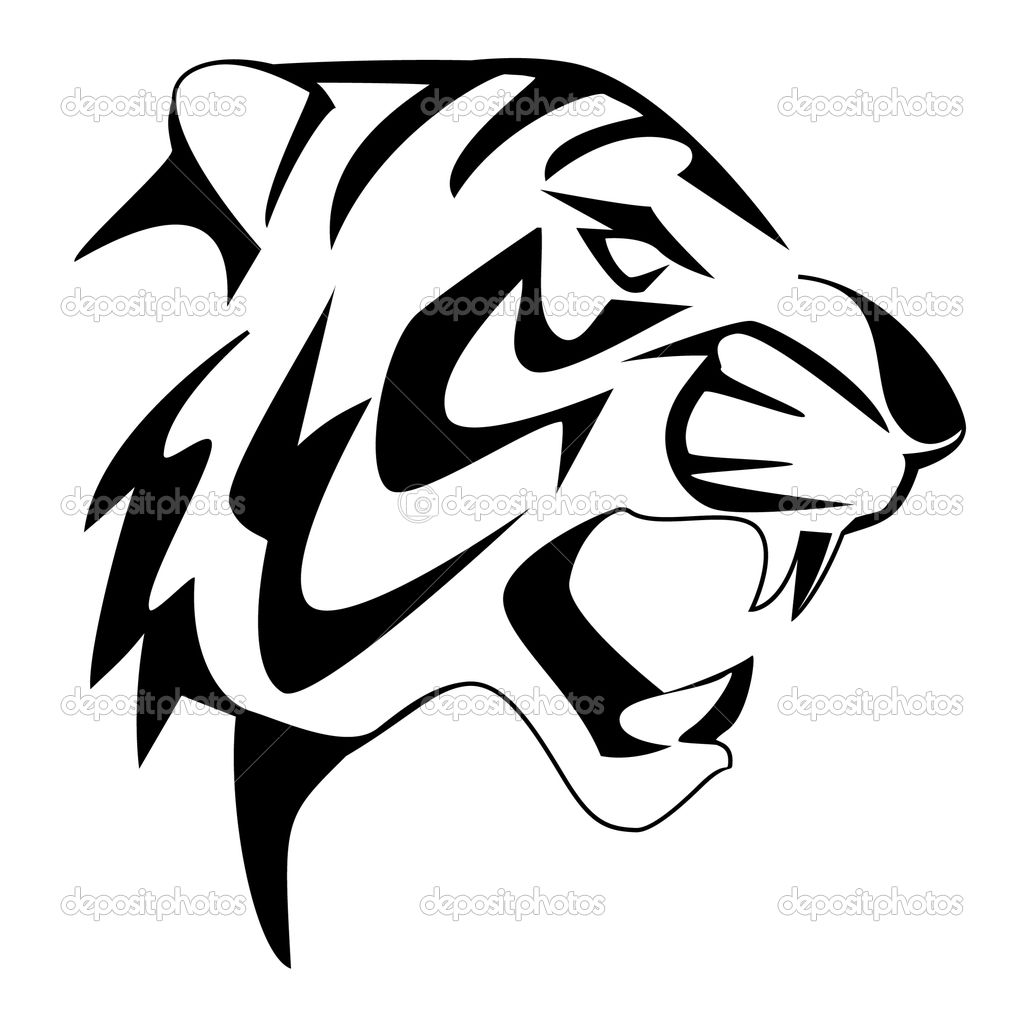 tiger+face+coloring+pages  Tiger face coloring page - Coloring