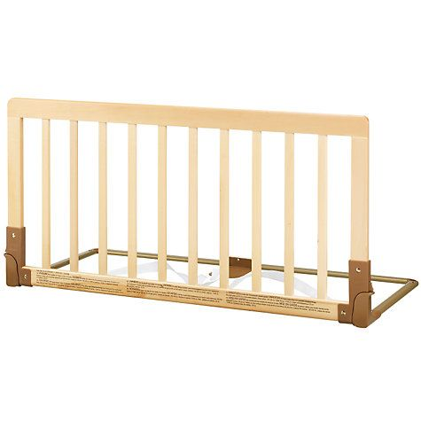 Babydan Wooden Bed Guard Rail Natural Rails For