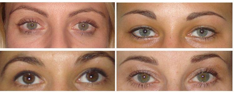 Permanent make up eyebrows and eyeliner makeup