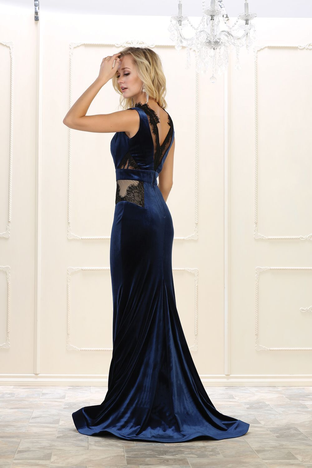 Long prom dress velvet evening party gown in my maggie