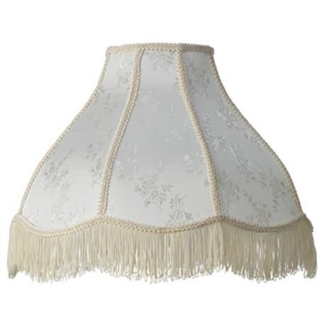 Cream Scallop Dome Lamp Shade 6x17x12x11 Spider 28195 Lamps Plus Lamp Shade Beaded Lampshade Victorian Lampshades
