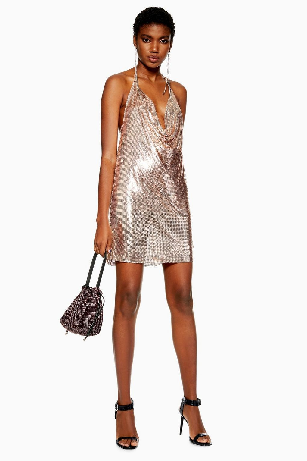 Rose Gold Chainmail Shift Dress Topshop Usa Top Shop Dress Shift Dress Dresses [ 1530 x 1020 Pixel ]