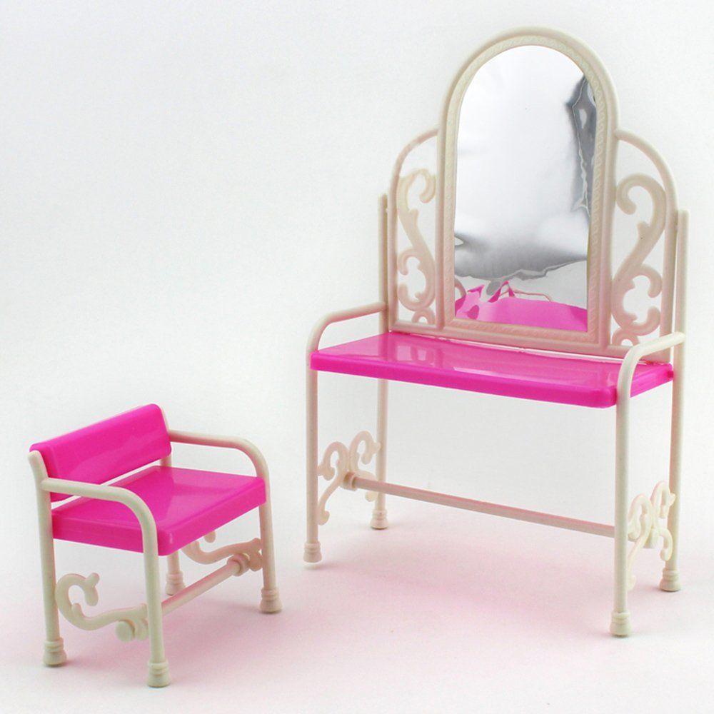 E-TING tocador moda y juego de sillas para los muebles muñecas ...