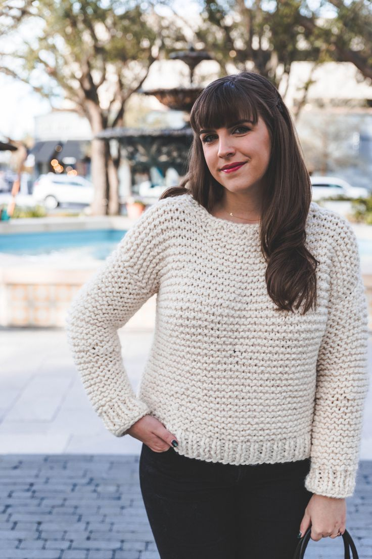 Simple Knit Sweater   Knitting patterns, Tutorials and Patterns
