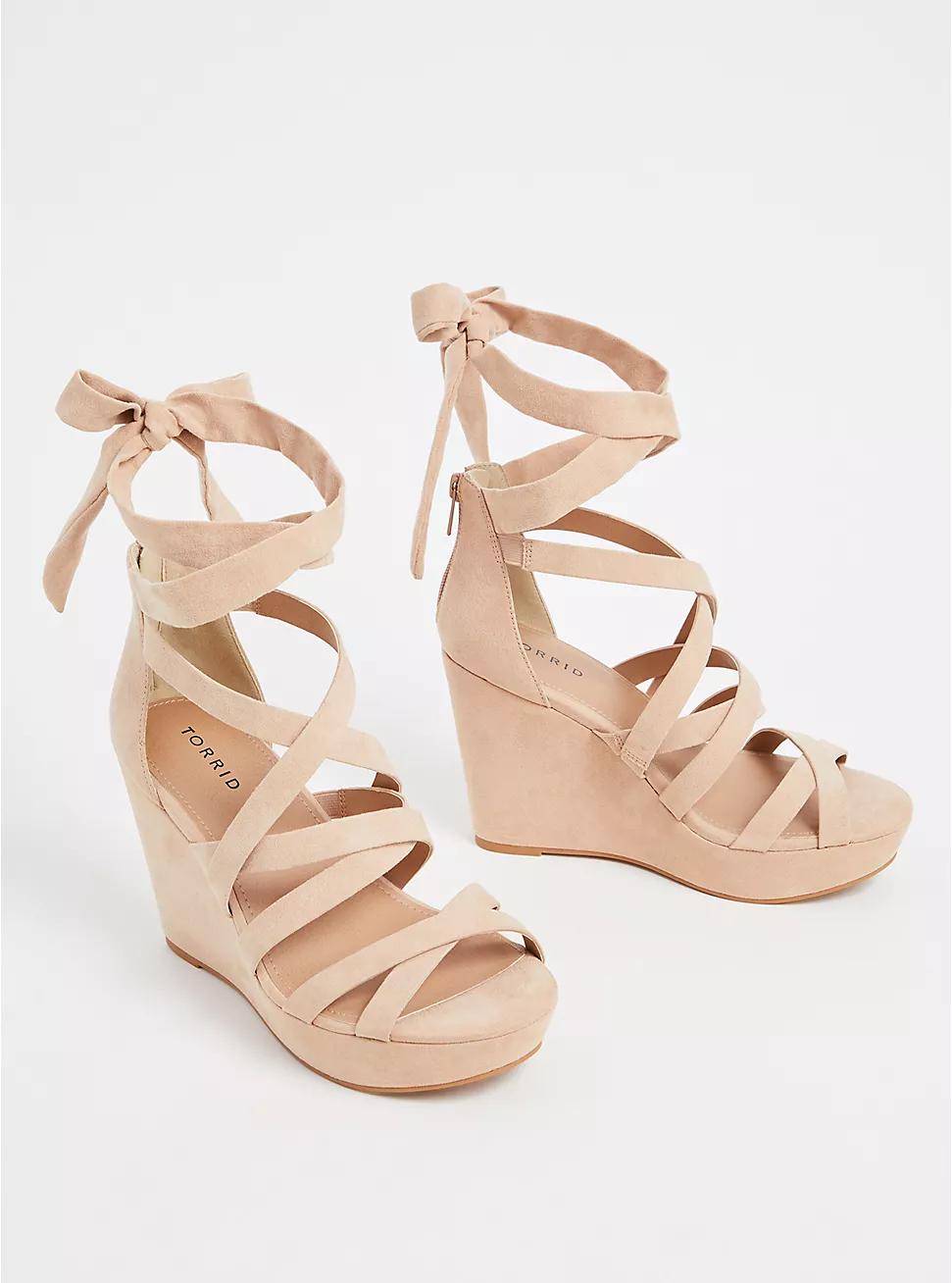 Prada Nude Suede Strappy Sandals in Beige (nude) | Lyst
