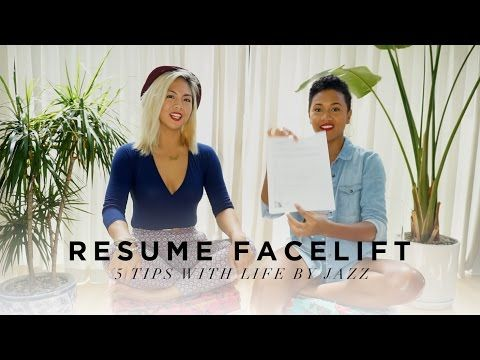 5 Tips On How To Give Your Resume A Facelift Youtube Facelift