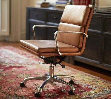 Leather Desk Chairs Stretch Banquet Chair Covers For Sale Nash Swivel Camel Potterybarn Like This One A Lot It Also Looks More Comfortable Thant The Hughes From C B