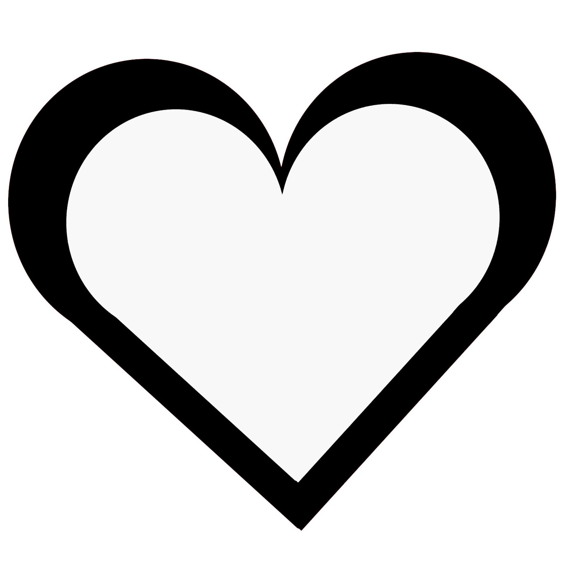 transparent black heart - HD1920×1920