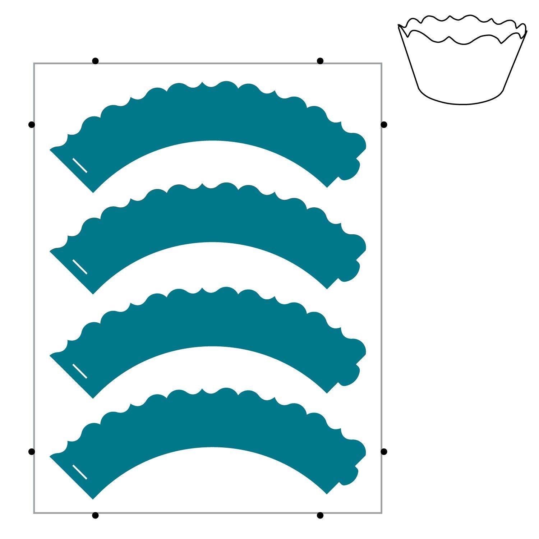 Cupcake Wrap-Fancy (Pinnovation)   Silhouette/Laser/Die Cuts ...