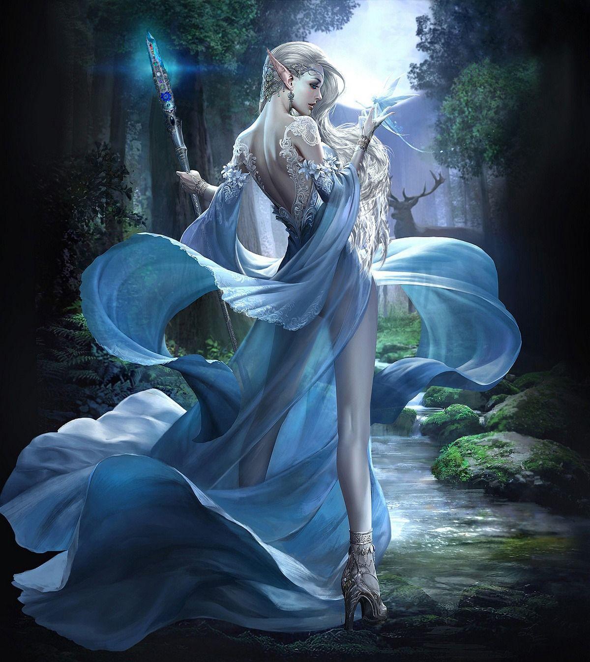 Nenil Ar Lutphen High Elf Mage Princess Rpg Character Fantasy Art Women Beautiful Fantasy Art Dark Fantasy Art