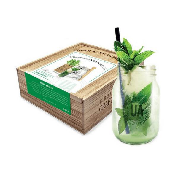 These Grow It Yourself Cocktail Kits Make Great Gifts Each Set Contains One Herb Grow Kit One Muddler One Maso Cocktail Gift Set Mint Mojito Mojito Cocktail