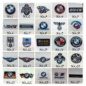 BMW Sew Iron on Patch Embroidered Motorrad Motorcycle Vintage Racing Sport Boxer | eBay