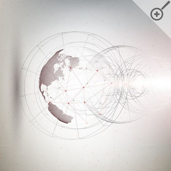Three-dimensional dotted world globe by VectorShop on @creativemarket