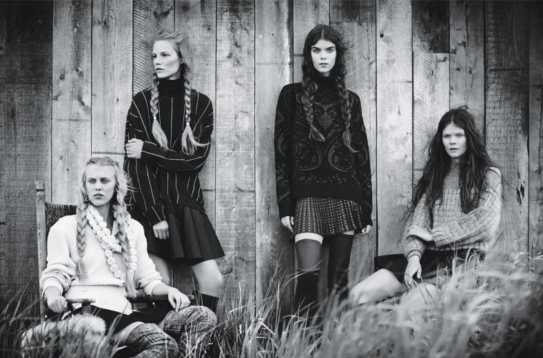 Irina Kravchenko, Suvi Koponen, Meghan Collison & Juliana Schurig - W Magazine US - September 2013 - Editorial   TheImpression.com