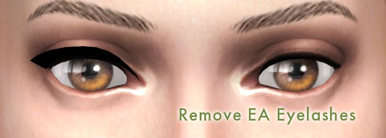 Remove EA eyelashes for3d lashes | The sims | Sims 4, Sims