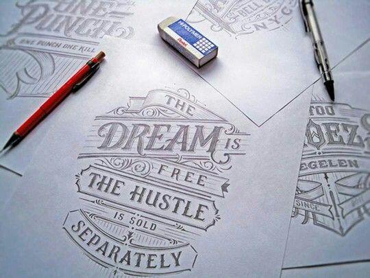 Graceful hand lettering. #typography #hustle