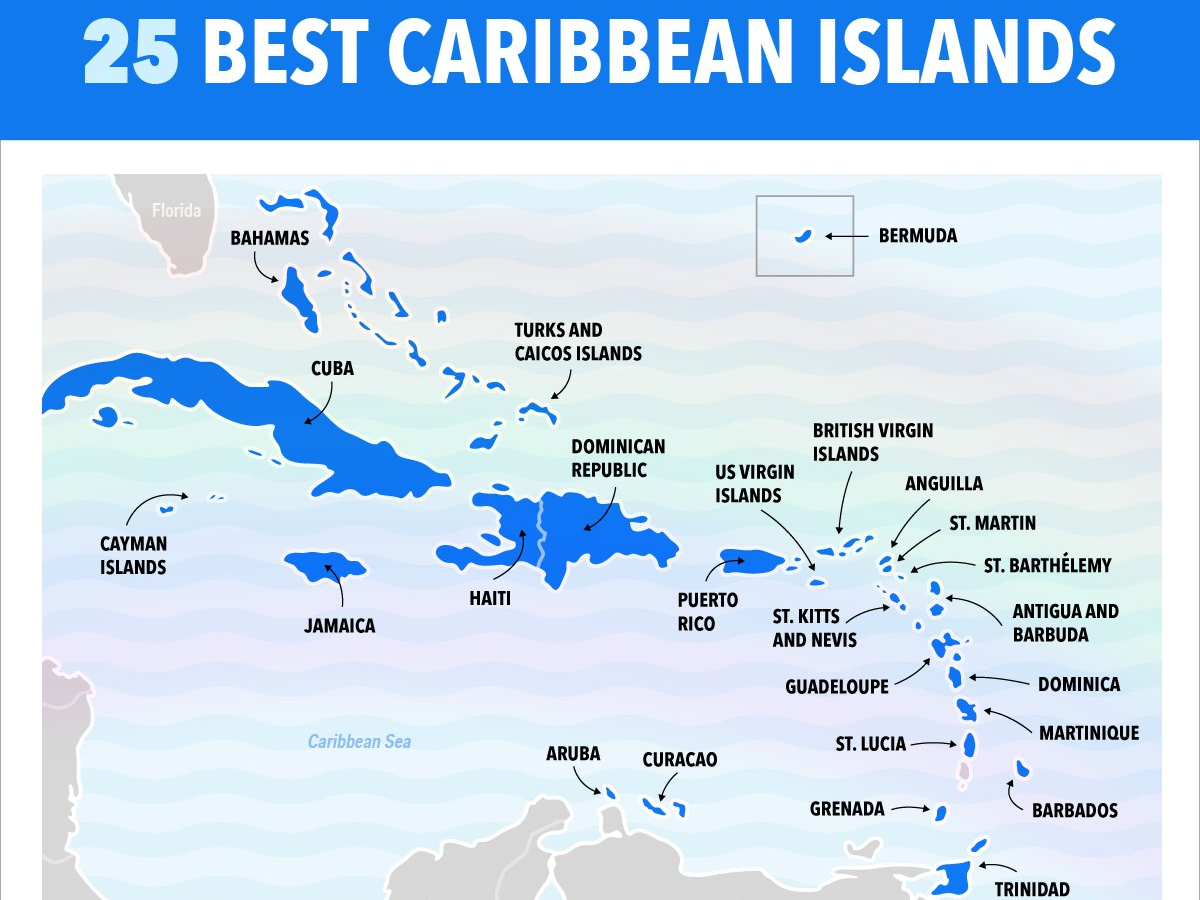 This Map Shows Our Ranking Of The Best Caribbean Islands ...