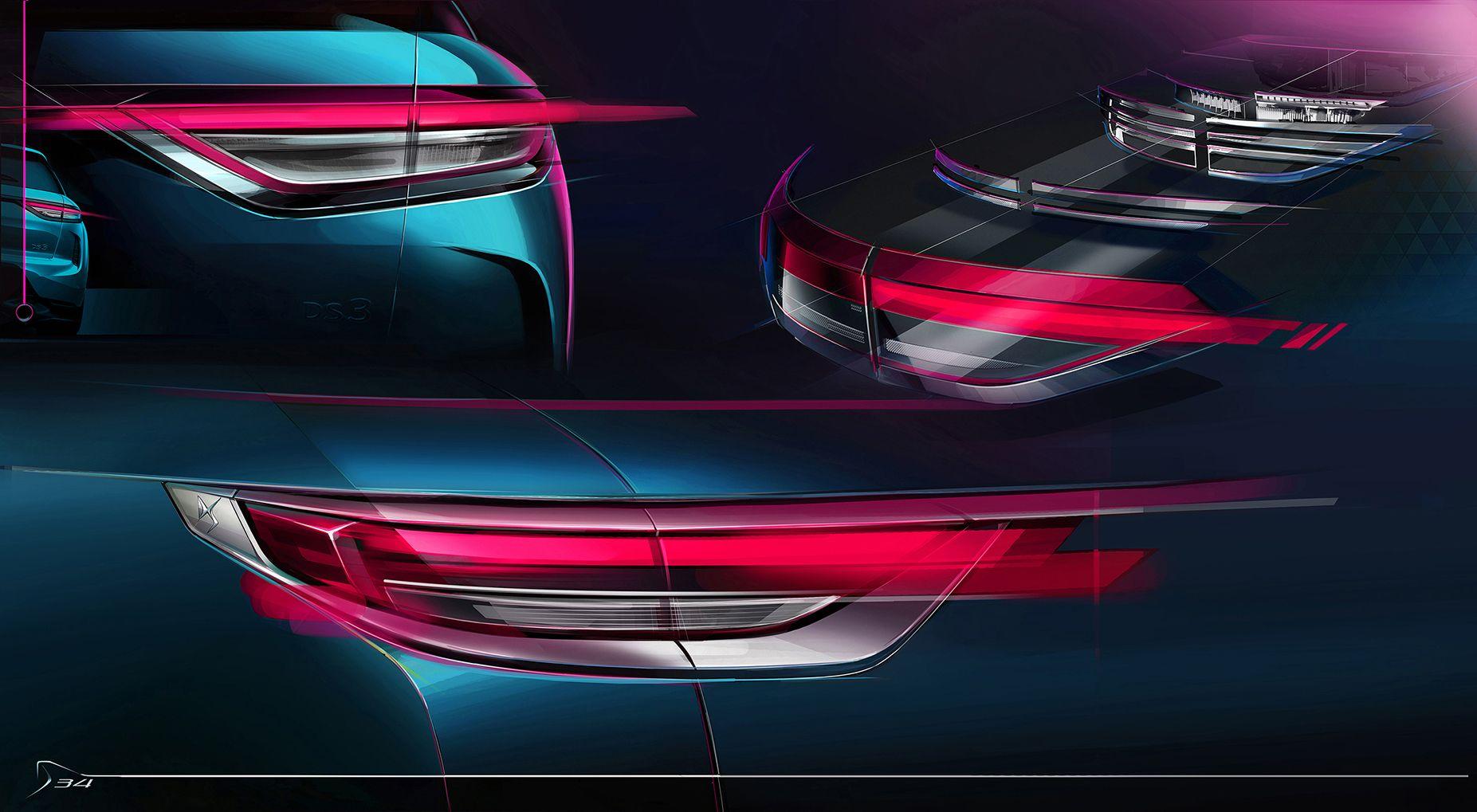 2019 ds3 crossback tail light design