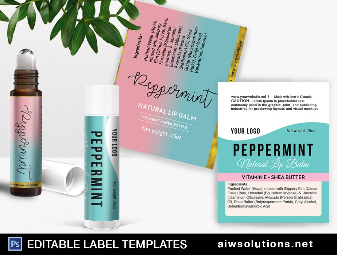 Perfume Roller Ball Label Template Id