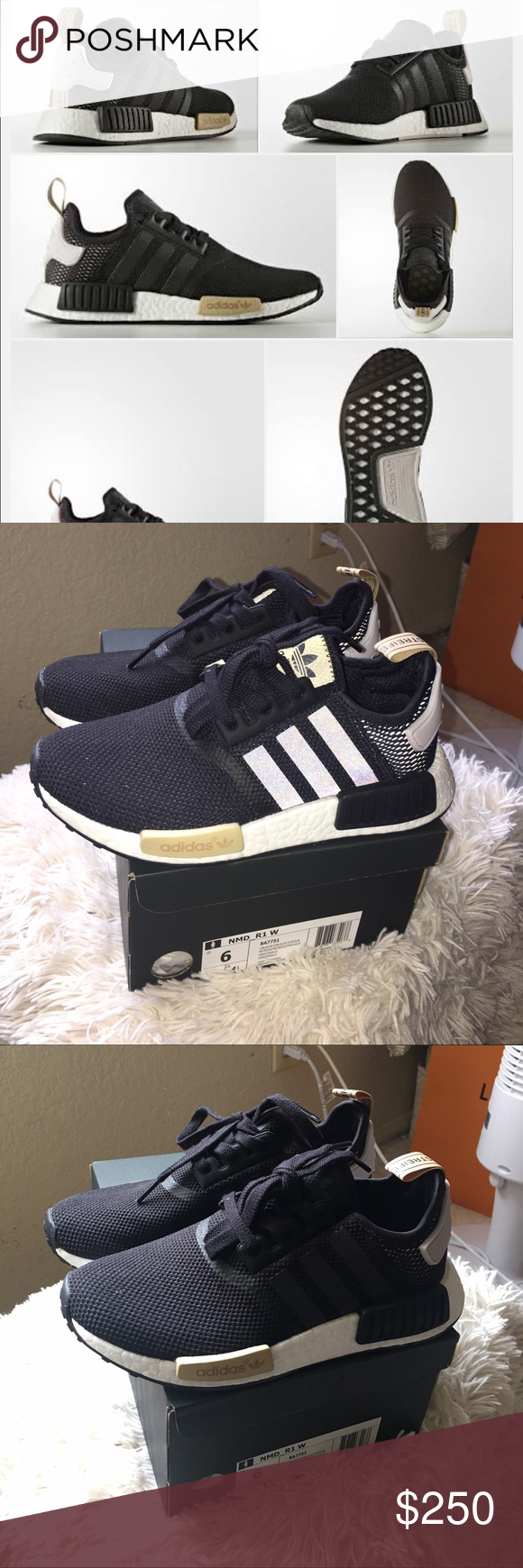 6ec6a86a6 ADIDAS NMD R1 SNEAKERS Size 6 Men- will fit woman size 7-8 -AUTHENTIC WITH  BOX! -BEFORE YOU BUY NMDs (MINE OR ANOTHER SELLER S) PLEASE WATCH A VI   ...