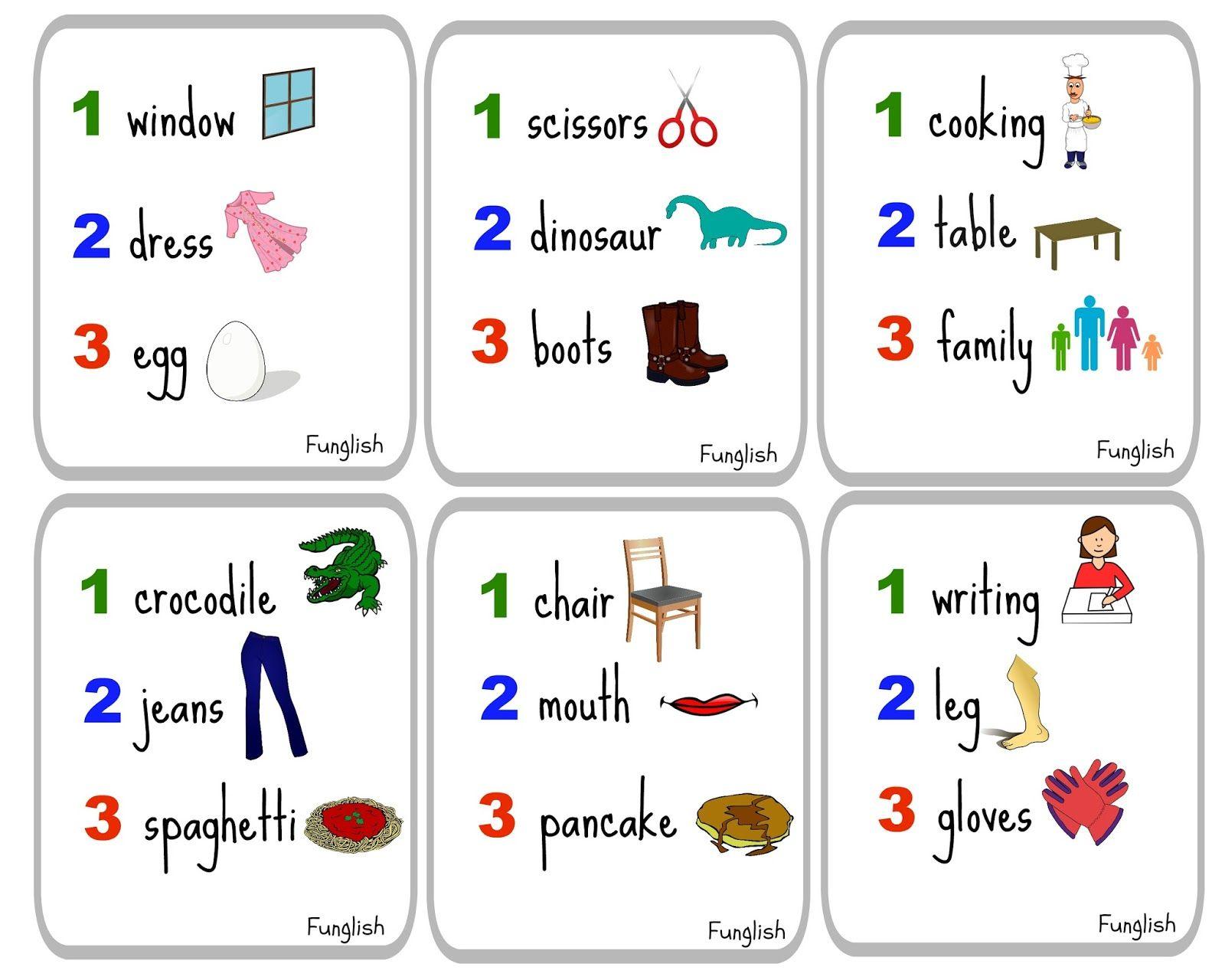 Funglish Charades Game Kids Young Learners English