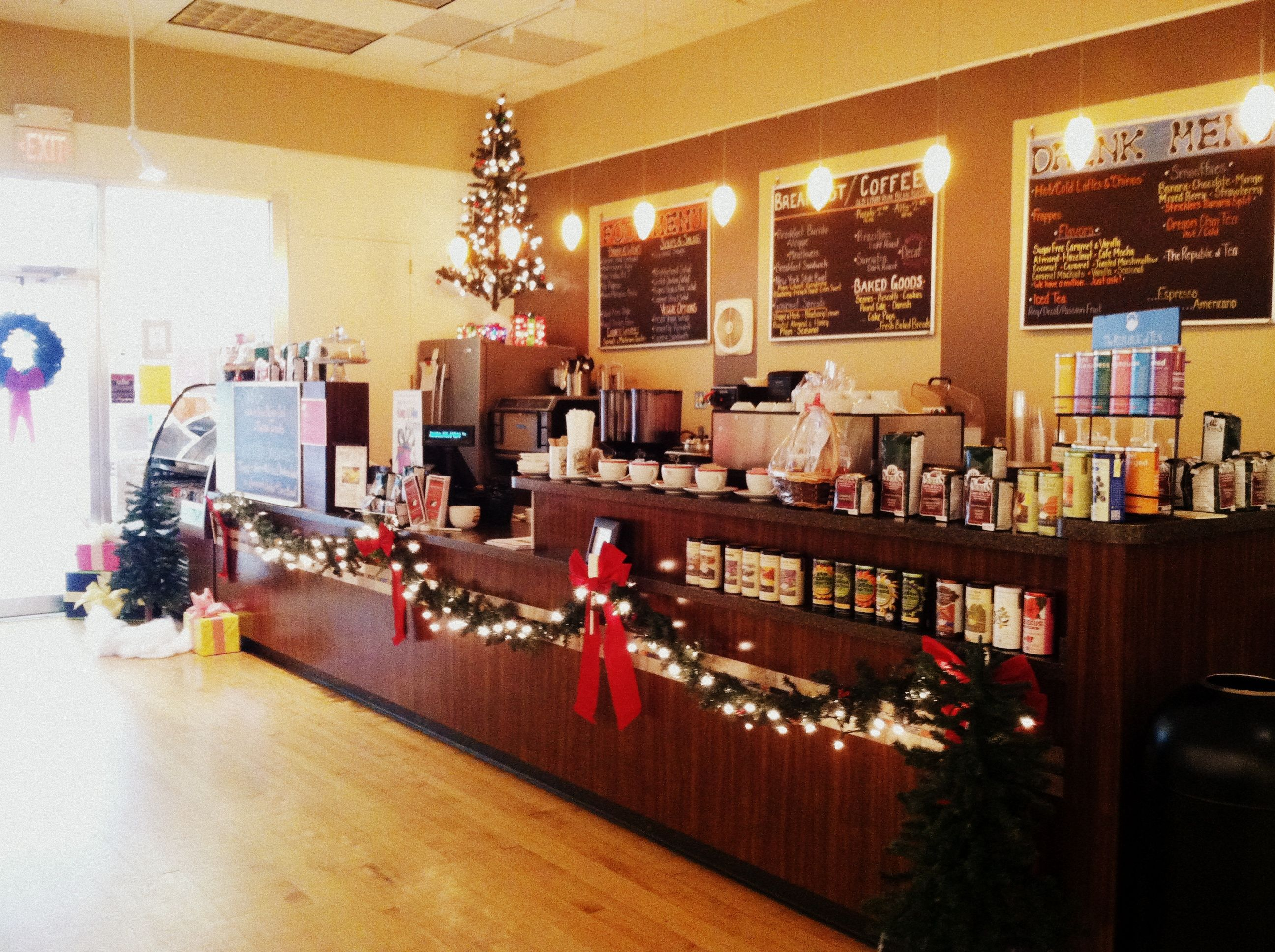 The Neighborhood Cafe is decorated for the Christmas season! Stop in to try our seasonal specials. View our full menu at www.latrobeartcenter.org  #art #nonprofit