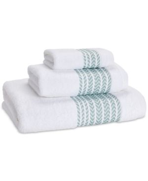 Kassatex Baja Bath Towel Green Striped Bath Towels Green Bath Towels Towel Collection