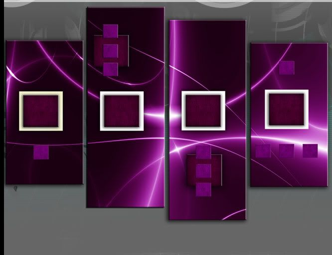 Large Plum and Purple Abstract Squares Canvas Picture Split Multi 4 ...