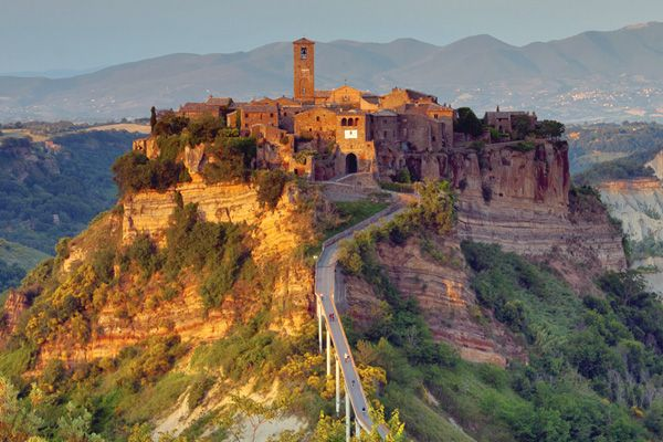 Rick Steves' unidiscovered Europen destinations:Civita di Bagnoregio, Italy: In the chaos that came after the fall of Rome, communities literally ran for the hills, establishing stony escapes. And to this day, there are incredible enclaves of the Old World still hiding out in the hillsides of Italy. We'll climb up to the most dramatic Italian hill town of all, a time-passed pinnacle village barely surviving into the 21st century.