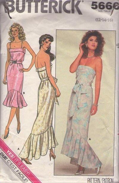 MOMSPatterns Vintage Sewing Patterns - Butterick 5666 Vintage 80\'s ...