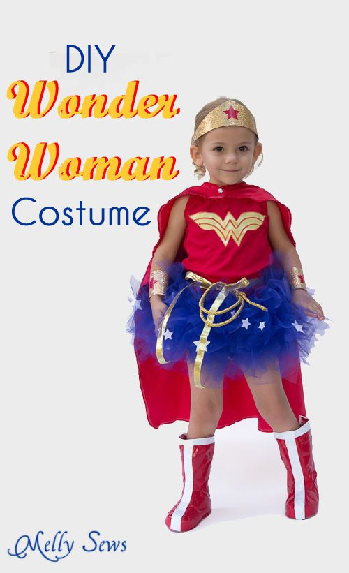 DIY Wonder Woman Costume - Make a Tutu - Melly Sews  sc 1 st  Pinterest & DIY Wonder Woman Costume - Make a Tutu | Pinterest | Diy wonder ...