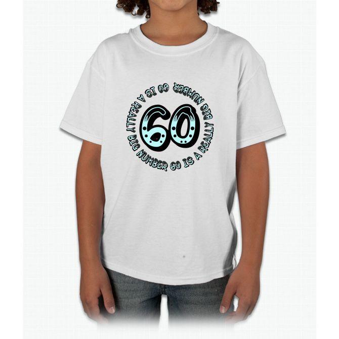 60th Birthday, Big Sixty Black Young T-Shirt