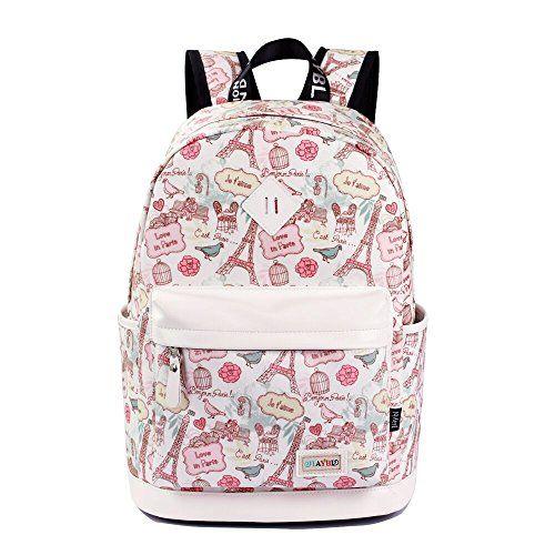 d80025937ef9 JOYELIFE Womens Backpack Laptop Backpacks College School Bags Girls  Bookbags Canvas Waterproof Travel Daypack Rucksack Woman Gilrs Ladies  Shoulder Bag in ...